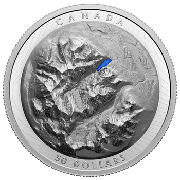2021 $50 FINE SILVER COIN LAKE LOUISE