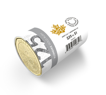 2021 $1 SPECIAL WRAP ROLL 125TH ANNIVERSARY OF THE KLONDIKE GOLD RUSH UNCOLOURED