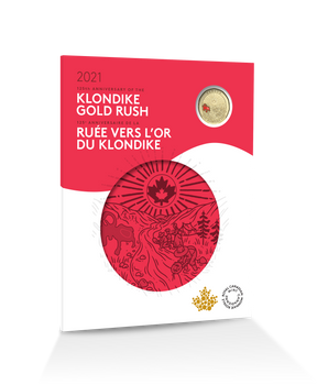 2021 COMMEMORATIVE COLLECTOR KEEPSAKE CARD 125TH ANNIVERSARY OF THE KLONDIKE GOLD RUSH