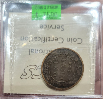 1859 CANADA CIRCULATION 1 CENT VG-10 - Wide 9/8