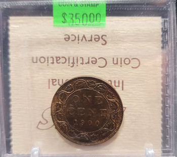 1900 CANADA CIRCULATION 1 CENT MS-62 - TRACE RED