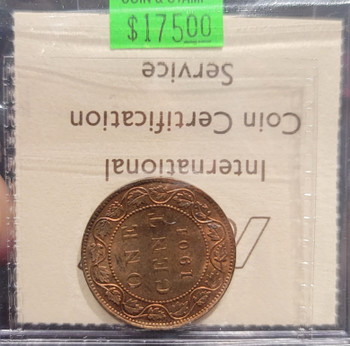 1901 CANADA CIRCULATION 1 CENT MS-63 - RED