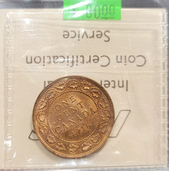 1918 CANADA CIRCULATION 1 CENT MS-63 - RED