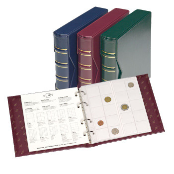 NUMIS CLASSIC ALBUM WITH SLIPCOVER - HOLDS 143 COINS