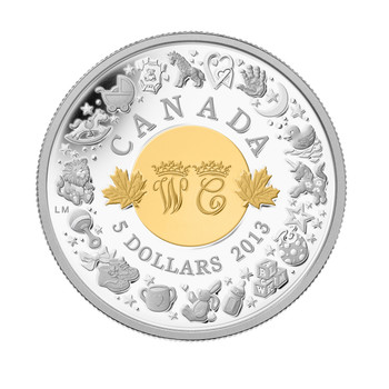 2013 $5 FINE SILVER COIN - ROYAL INFANT TOYS