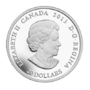 2013 $20 FINE SILVER COIN - CANADIAN CONTEMPORARY ART -  QUANTITY SOLD : 3,814