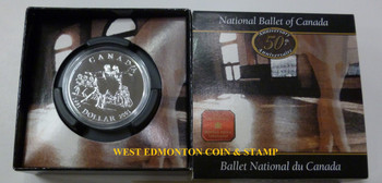 2001 BRILLIANT UNCIRCULATED DOLLAR - THE 50TH ANNIVERSARY OF THE NATIONAL BALLET OF CANADA