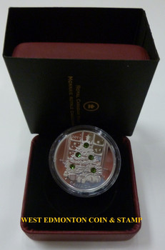 5 2011 $20 CRYSTAL COINS - HYACINTH RED & MONTANA BLUE SMALL - TOPAZ & EMERALD LARGE - CHRISTMAS TREE - BELOW MINT ISSUE PRICE