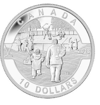 2013 $10 FINE SILVER COIN O CANADA SERIES - HOCKEY