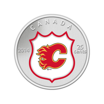 2014 25-CENT NHL COIN AND STAMP GIFT SET CALGARY FLAMES