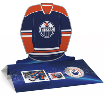 2014 25-CENT NHL COIN AND STAMP GIFT SET EDMONTON OILERS