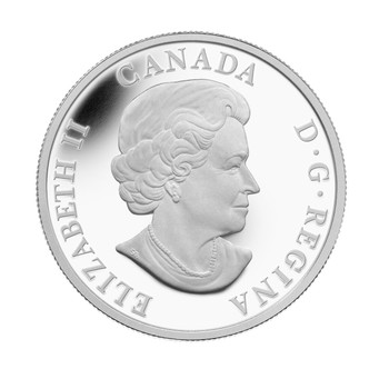 2014 $20 FINE SILVER COLOURED COIN - THE CARIBOU