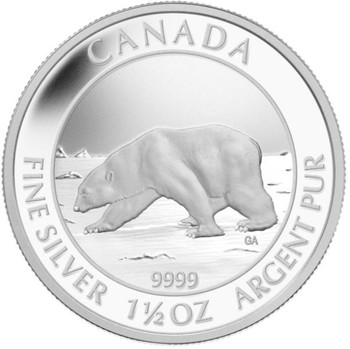 2013 $8 FINE SILVER COIN - POLAR BEAR