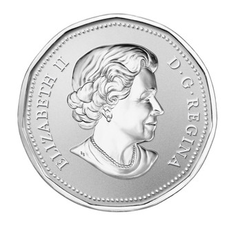 2014 $1 FINE SILVER COIN LUCKY LOONIE