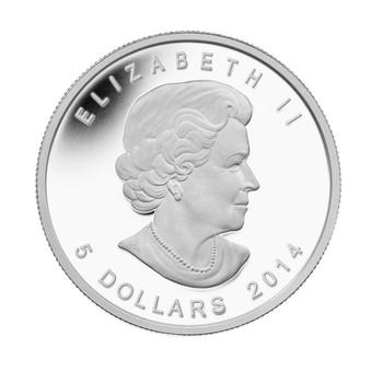 2014 $5 FINE SILVER COIN - PEREGRINE FALCON