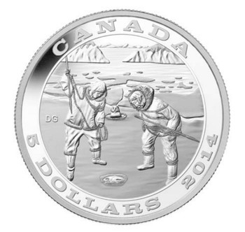 2014 $5 FINE SILVER COIN TRADITION OF HUNTING: THE SEAL