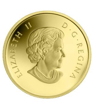 2014 $5 PURE GOLD COIN O CANADA - MOOSE (1/10oz. GOLD)
