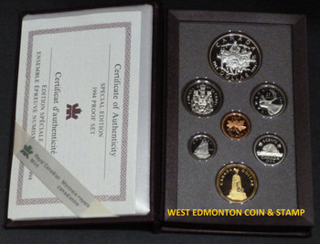 1994 LIMITED EDITION (RED) PROOF DOUBLE DOLLAR SET - 25TH ANN OF THE LAST RCMP NORTHERN DOG SLED TEAM