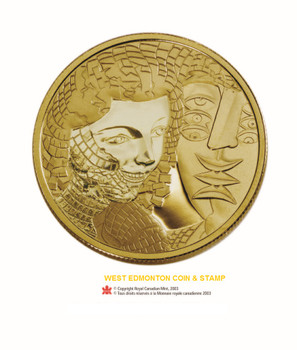 2004 $200 GOLD COIN - ALFRED PELLAN: FRAGMENTS - NO SLEEVE