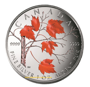 2004 SILVER MAPLE LEAF COLOURED COIN QUANTITY SOLD: 26,763