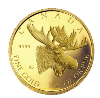 2004 1/25 OZ GOLD COIN - MAJESTIC MOOSE