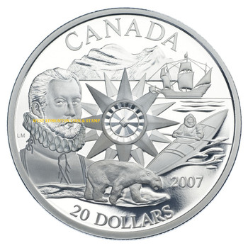 2007 $20 STERLING SILVER COIN - INTERNATIONAL POLAR YEAR