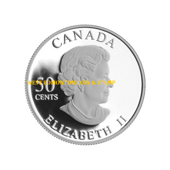 2006 50-CENT STERLING SILVER COIN - GOLDEN DAISY - QUANTITY SOLD: 18,190