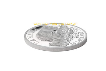 2014 $20 FINE SILVER COIN - BISON: A FAMILY AT REST
