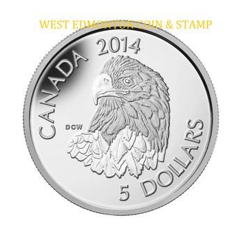 2014 $5 PLATINUM COIN BALD EAGLE