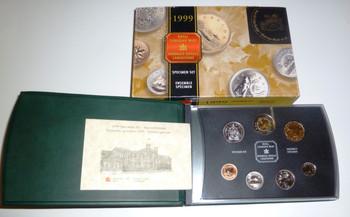 1999 7-COIN SPECIMEN SET - NUNAVUT TOONIE