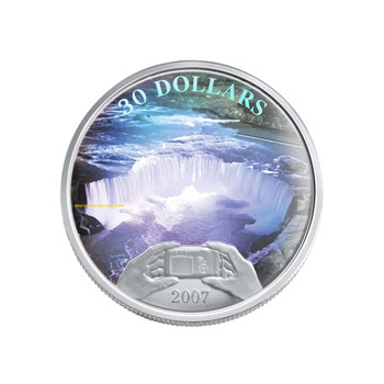 2007 STERLING SILVER COIN - PANORAMIC CAMERA - NIAGARA FALLS - QUANTITY SOLD: 5,702