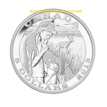 SALE - 2013 $5 FINE SILVER COIN - TRADITION OF HUNTING - DEER