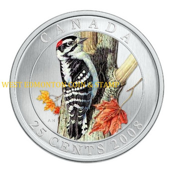 2008 25-CENT COIN - DOWNY WOODPECKER