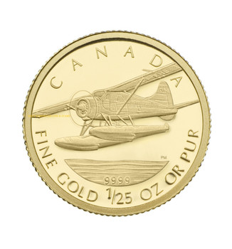 2008 1/25 OZ GOLD COIN - DE HAVILLAND BEAVER - QUANTITY SOLD: 13,526