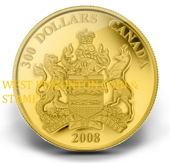 2008 $300 GOLD COIN - PROVINCIAL COAT OF ARMS: ALBERTA