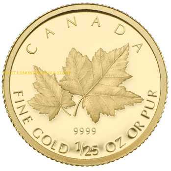 2009 1/25 OZ GOLD COIN - RED MAPLE LEAF