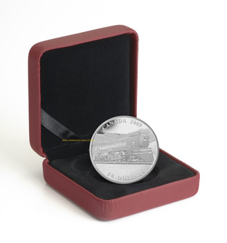 2009 $20 FINE SILVER COIN - GREAT CANADIAN LOCOMOTIVES SERIES: JUBILEE