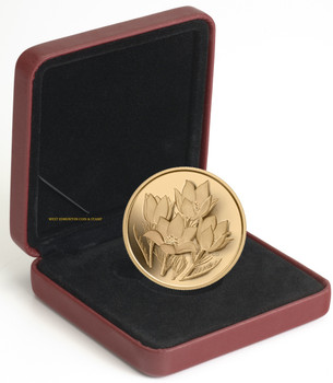 2010 $350 PURE GOLD COIN - PRAIRIE CROCUS