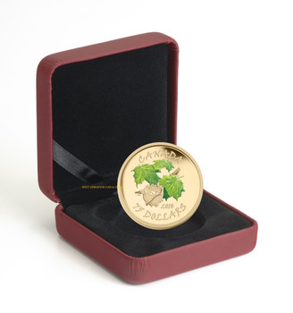 2010 $75 14-KARAT GOLD COIN - SPRING MAPLE LEAF