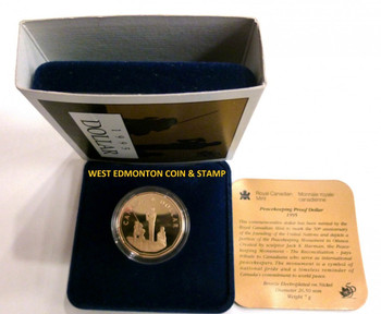 1995 PROOF LOON DOLLAR - SPECIAL EDITION - PEACEKEEPING