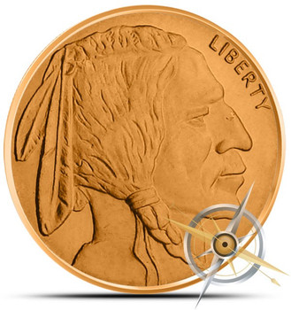 BUFFALO NICKEL 1 OZ. COPPER ROUND