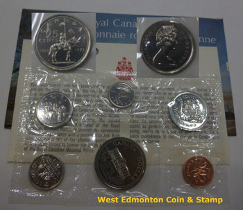 1973 25-CENT LARGE BUST SCARCE UNCIRCULATED SET - 100TH ANNIVERSARY OF THE RCMP