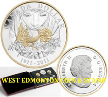 2011 PROOF DOUBLE DOLLAR SET - 100TH ANNIVERSARY OF CANADA'S PARKS (2011-1911)