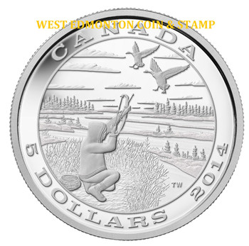2014 $5 FINE SILVER COIN TRADITION OF HUNTING: CANADA GOOSE