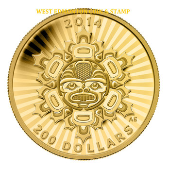 2014 $200 PURE GOLD COIN- INTERCONNECTION: LAND- THE BEAVER