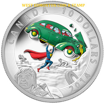 2014 $10 FINE SILVER COIN ICONIC SUPERMAN™ COMIC BOOK COVERS: ACTION COMICS #1 (1938)