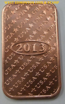 MORGAN DOLLAR 1 OZ COPPER INGOT / BAR