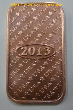 ST GAUDENS 1 OZ COPPER INGOT / BAR