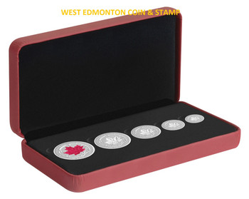 2015 FINE SILVER FRACTIONAL SET THE MAPLE LEAF