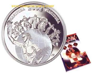 2002 50 CENT STERLING SILVER COIN - FESTIVALS OF CANADA - FOLKLORAMA